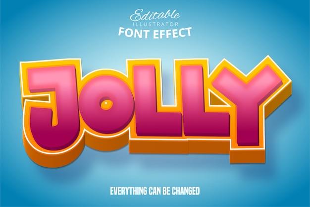 Texto alegre, efeito de fonte editável em 3d