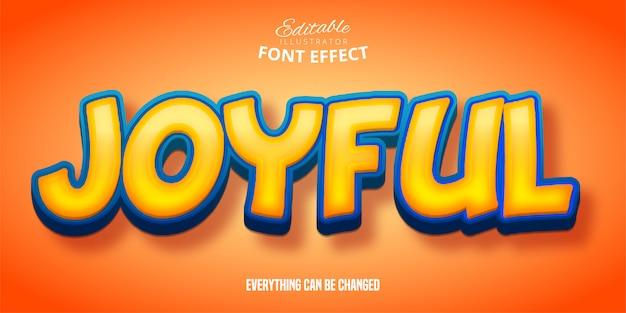 Texto alegre, efeito de fonte editável