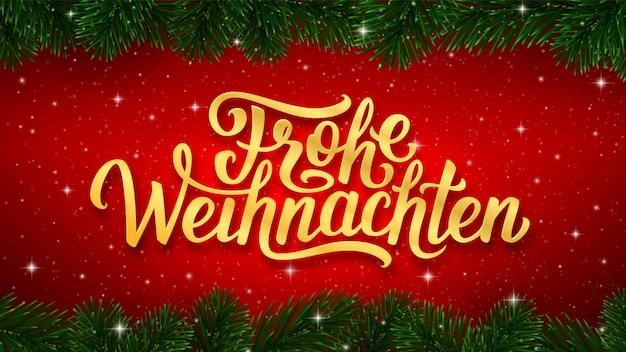 Texto alemão do feliz natal de frohe weihnachten