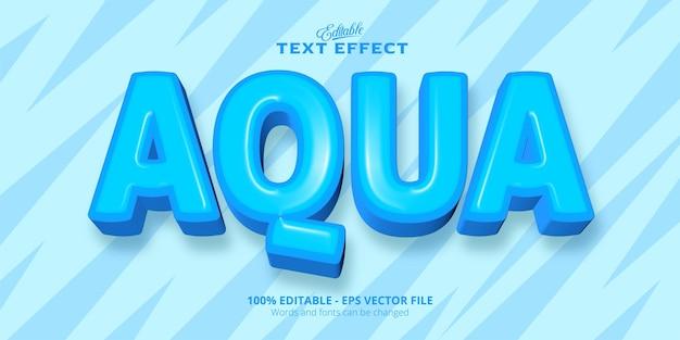 Texto aqua, efeito de texto editável