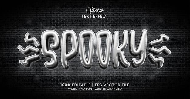 Texto assustador, modelo de estilo de efeito de texto editável de terror 3d