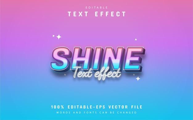 Texto brilhante - efeito de texto gradiente 3d
