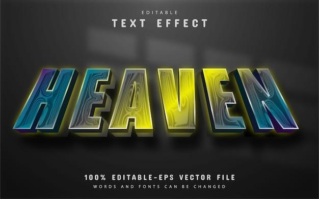 Texto celestial, efeito de texto gradiente editável
