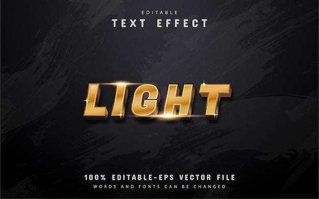 Texto claro - efeito de texto gradiente dourado