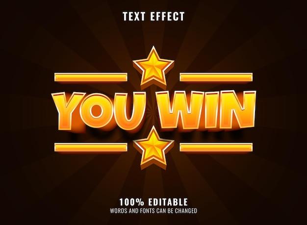 Texto da fonte do diamante dourado, efeito de texto editável do logotipo do jogo