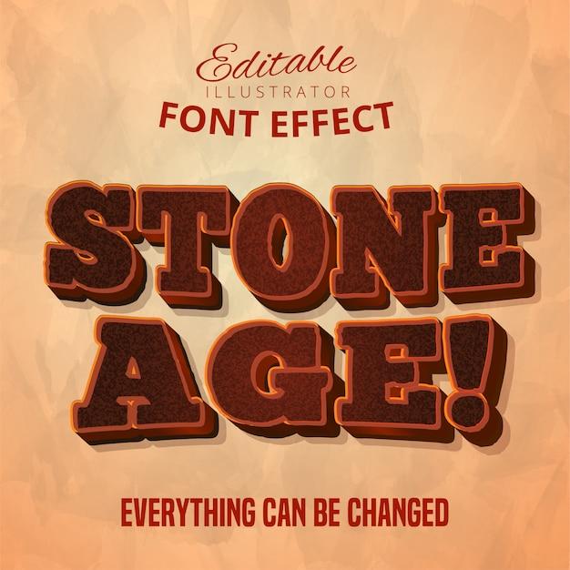 Texto da idade da pedra, efeito de fonte
