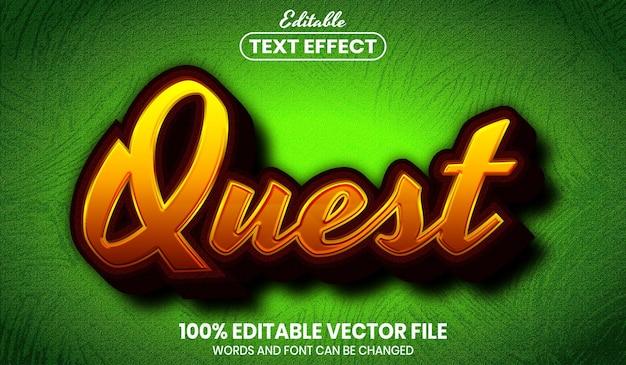 Texto da missão, efeito de texto editável de estilo de fonte