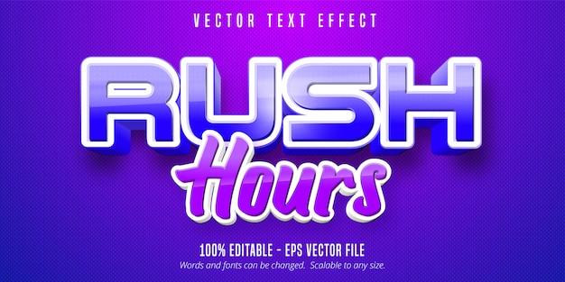 Texto das horas de ponta, efeito de texto editável no estilo do jogo