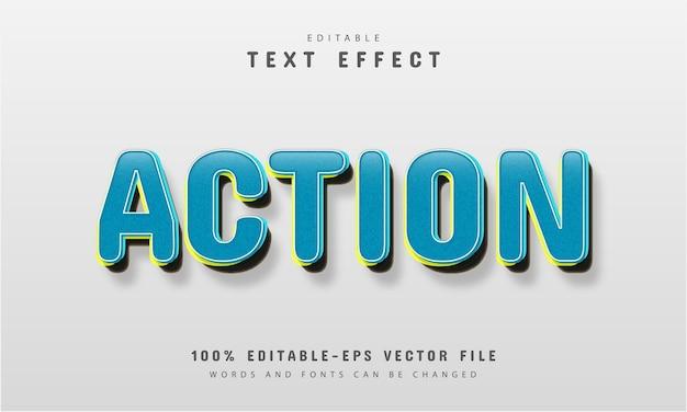 Texto de ação, efeito de texto estilo retro