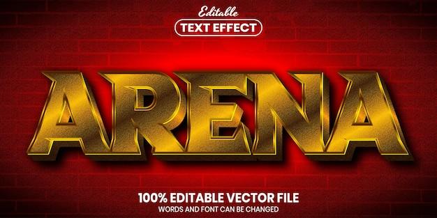 Texto de arena, efeito de texto editável de estilo de fonte