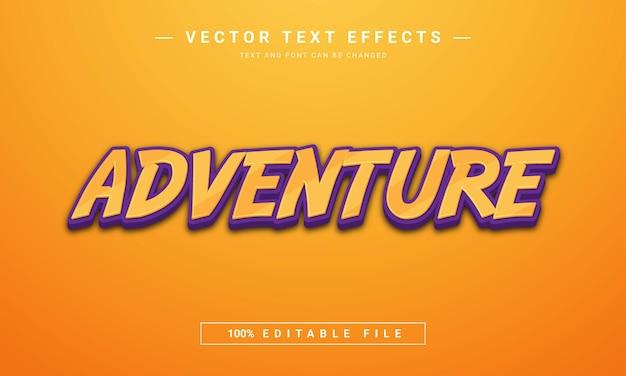 Texto de aventura estilo de texto editável em 3d