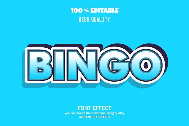 Texto de bingo, efeito de fonte editável
