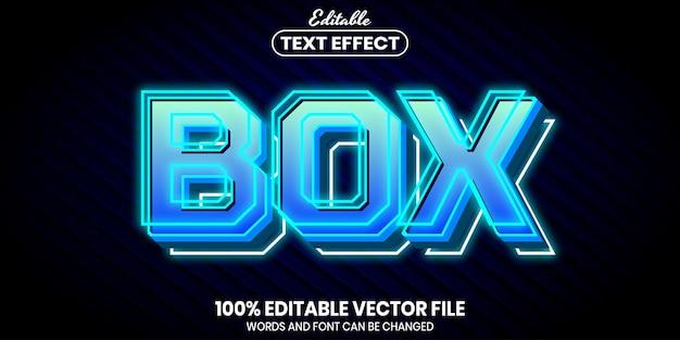 Texto de caixa, efeito de texto editável de estilo de fonte