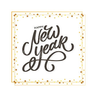 Texto de caligrafia de feliz ano novo