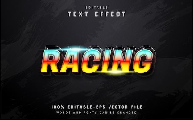Texto de corrida, efeito de texto gradiente 3d