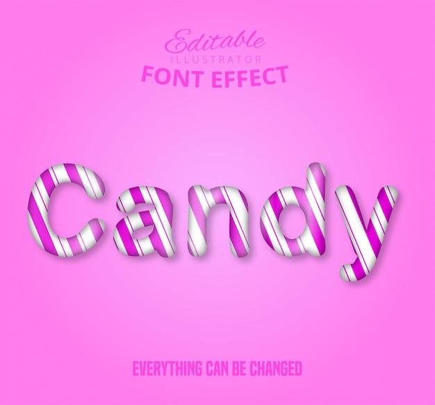 Texto de doces, efeito de texto editável