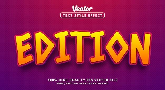 Texto de edição com estilo de cor de jogo, efeito de texto editável