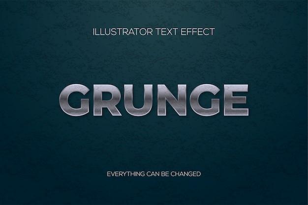 Texto de efeito metal grunge.