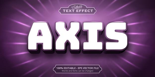 Texto de eixo, efeito de texto editável em estilo neon