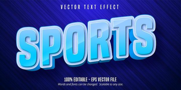 Texto de esportes, efeito de texto editável de estilo de esporte