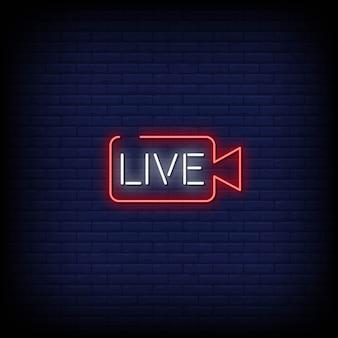 Texto de estilo de sinais de néon ao vivo
