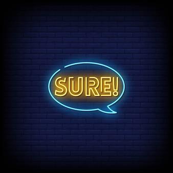 Texto de estilo de sinais de néon certo