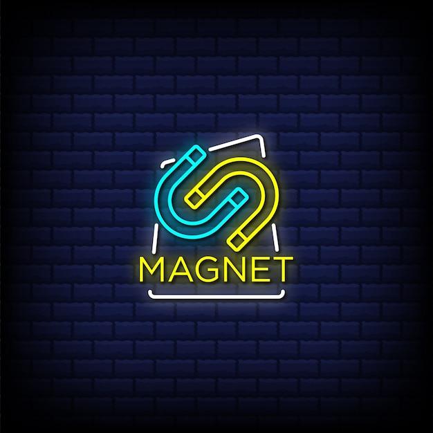 Texto de estilo de sinais de néon magnético