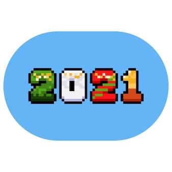 Texto de fantasia de pixel art cartoon