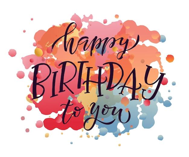 Texto de feliz aniversário como ícone de etiqueta de crachá de aniversário modelo de banner de convite de cartão de feliz aniversário