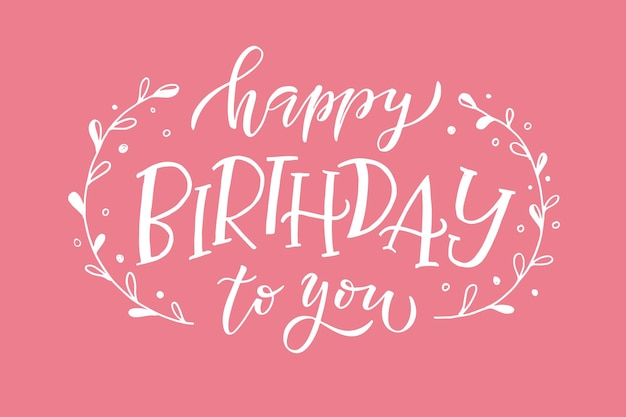 Texto de feliz aniversário como ícone de etiqueta de crachá de aniversário modelo de cartão de convite de feliz aniversário