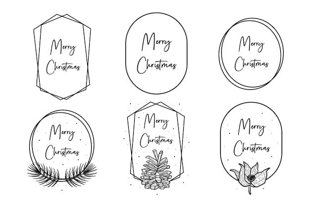 Texto de feliz natal com formas geométricas. design de cartão de felicitações, modelo.