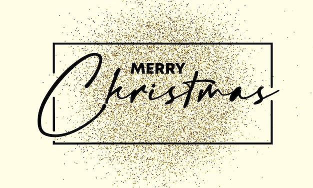 Texto de feliz natal na textura de ouro gliiter. elemento de design. para negócios, marketing e publicidade. vetor em fundo isolado. eps 10.