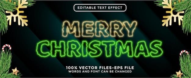 Texto de feliz natal. vetores premium de efeitos de texto editáveis