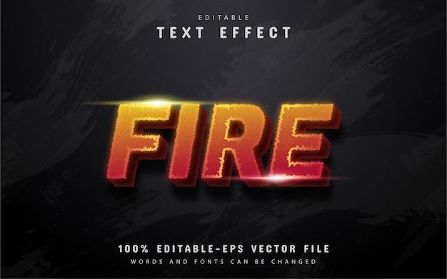 Texto de fogo, efeito de texto editável