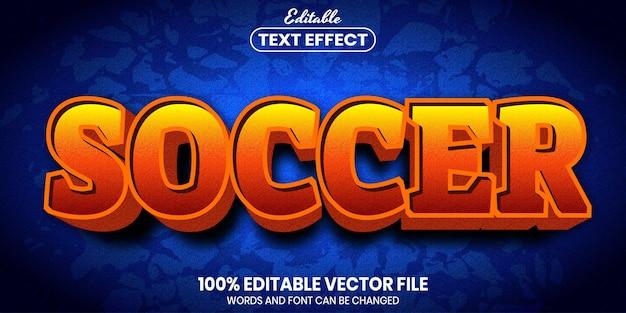 Texto de futebol, efeito de texto editável de estilo de fonte