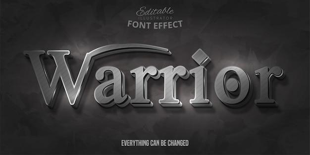 Texto de guerreiro, efeito de fonte editável Vetor Premium