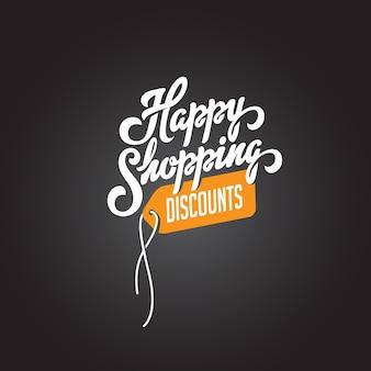 Texto de happy shopping descontos