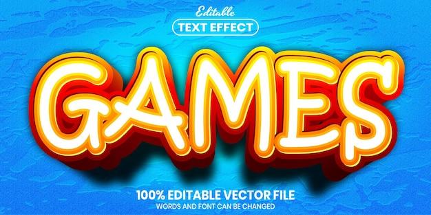 Texto de jogos, efeito de texto editável de estilo de fonte