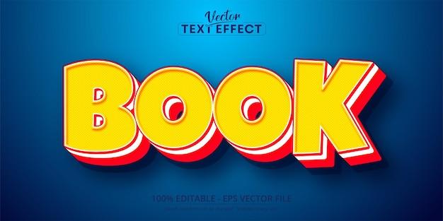 Texto de livro, efeito de texto editável de estilo pop art em quadrinhos