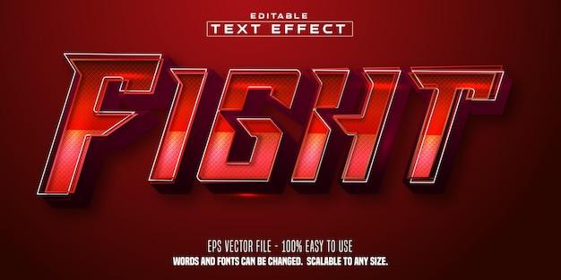 Texto de luta, efeito de texto editável de estilo esportivo