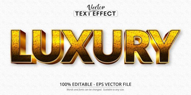 Texto de luxo, efeito de texto editável estilo ouro brilhante