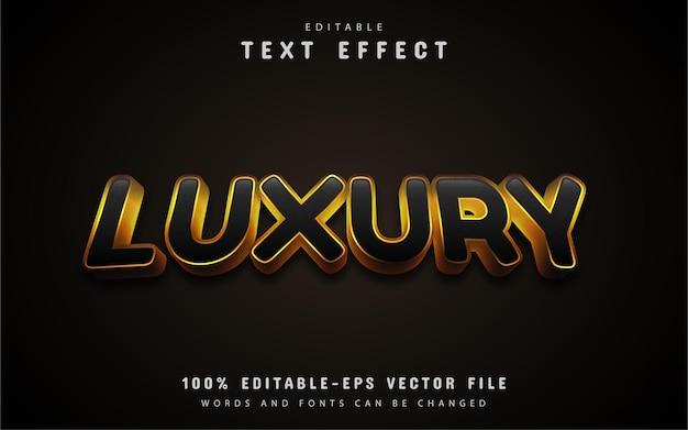 Texto de luxo, efeito de texto estilo ouro