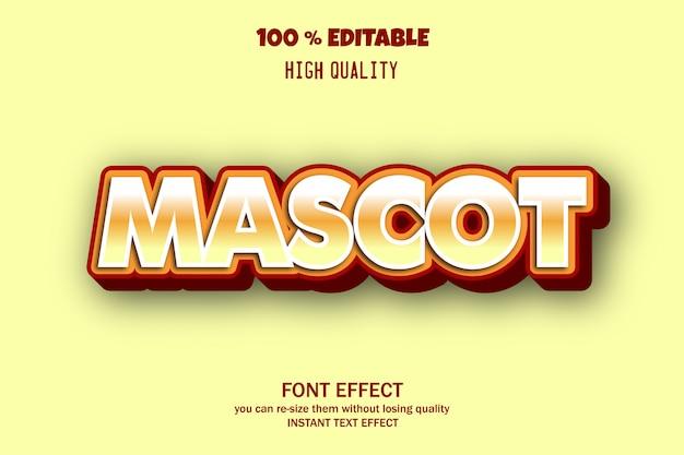 Texto de mascote, efeito de fonte editável