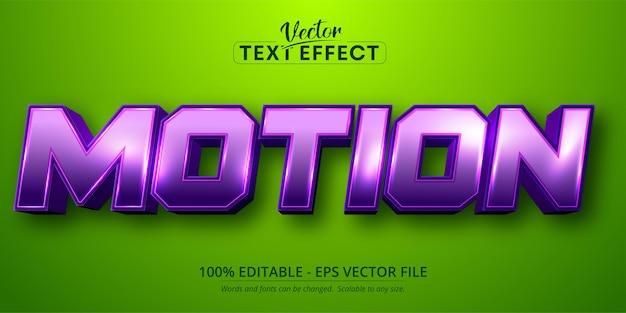 Texto de movimento, efeito de texto editável no estilo desenho animado