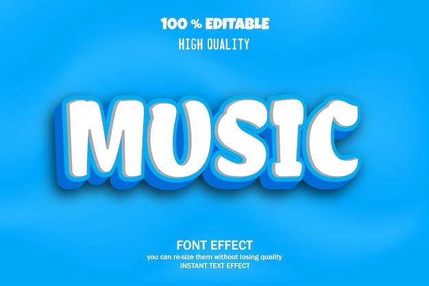 Texto de música, efeito de fonte editável