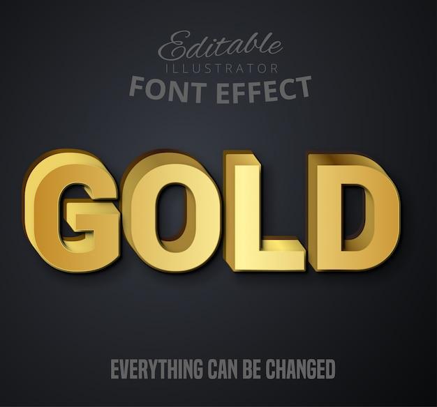 Texto de ouro, efeito fonte editável