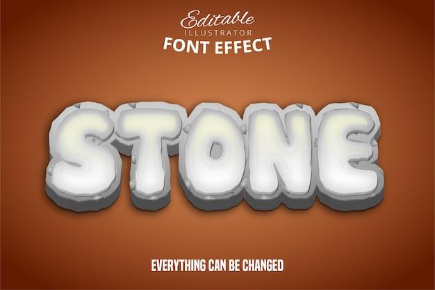 Texto de pedra, efeito de fonte editável
