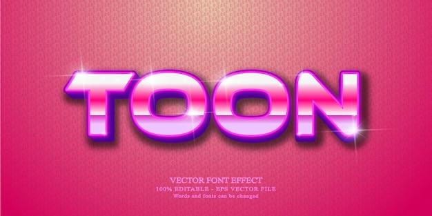 Texto de plano de fundo, efeito de texto editável no estilo desenho animado