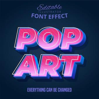 Texto de pop art, efeito de texto editável