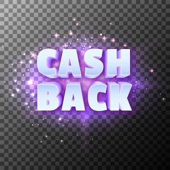 Texto de promoção especial em dinheiro de volta